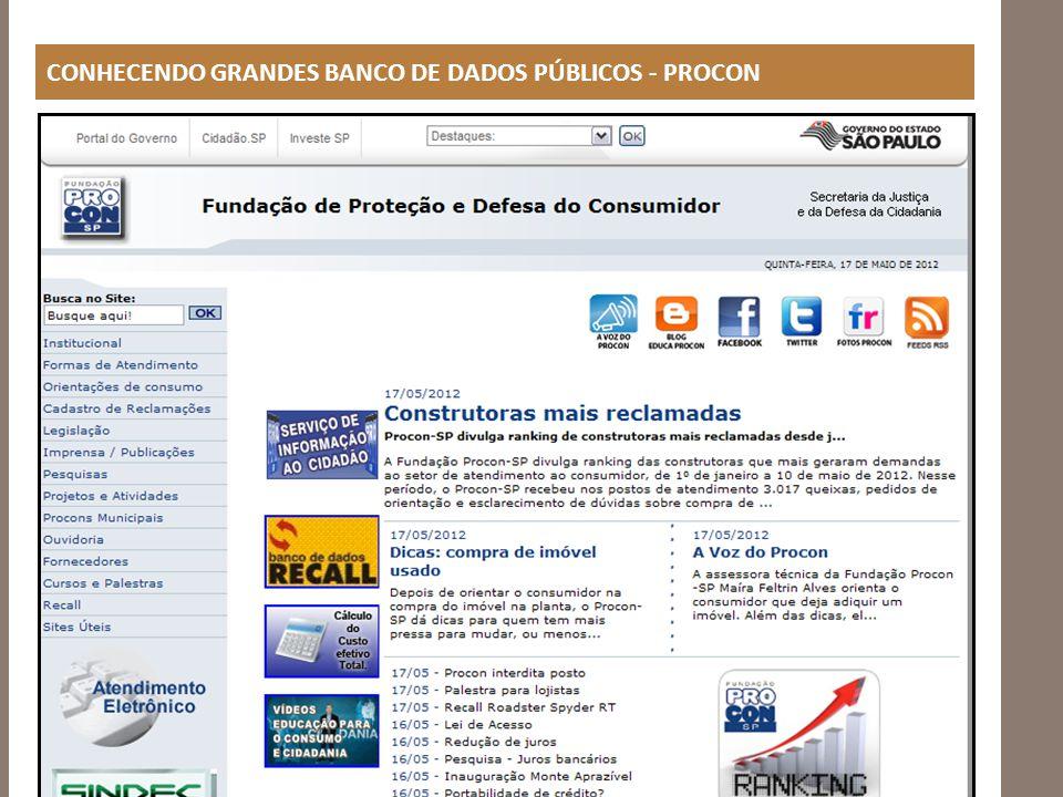 http://www.procon.sp.gov.br/pdf/acs_cadastro_2011.pdf http://www.procon.sp.gov.br/reclamacoes.asp?ano=2011