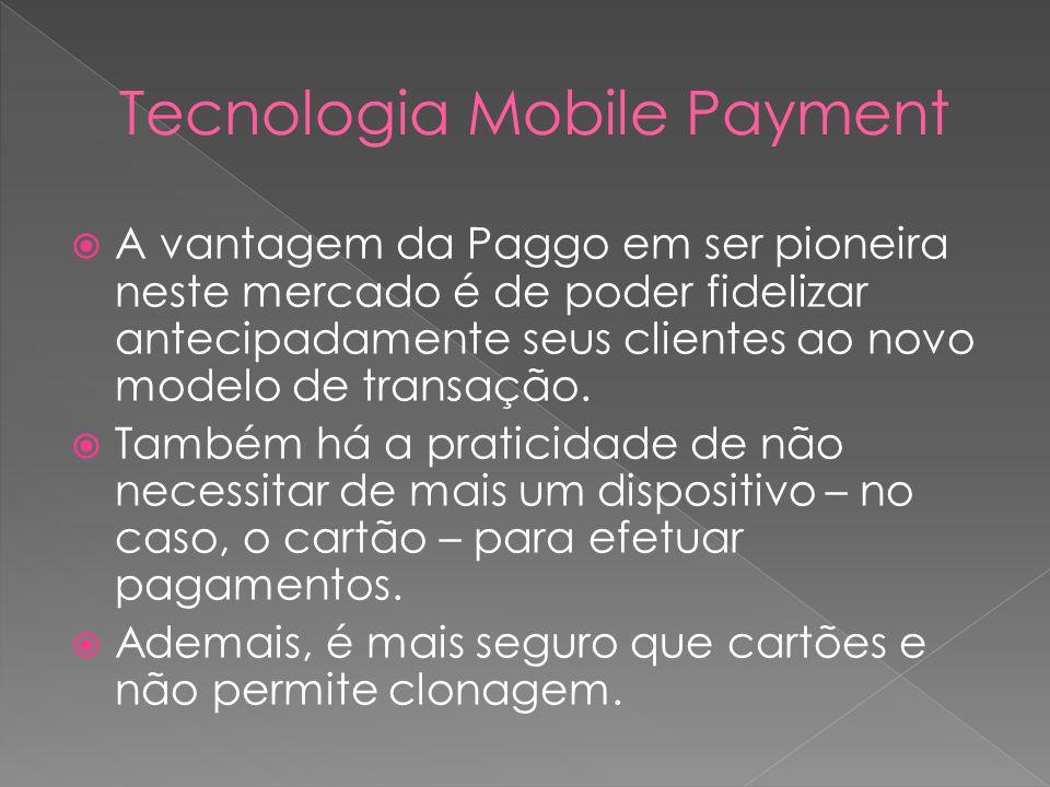 A vantagem da Paggo em ser pioneira neste mercado é de poder fidelizar antecipadamente seus clientes ao novo modelo de transação. Também há a praticid