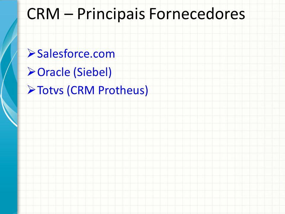 Salesforce – Soluções em CRM Simplifica e automatiza as transações comerciais, proporcionando uma visão completa do cliente, com análise mais profunda e uma perspectiva global das informações relevantes dos clientes.