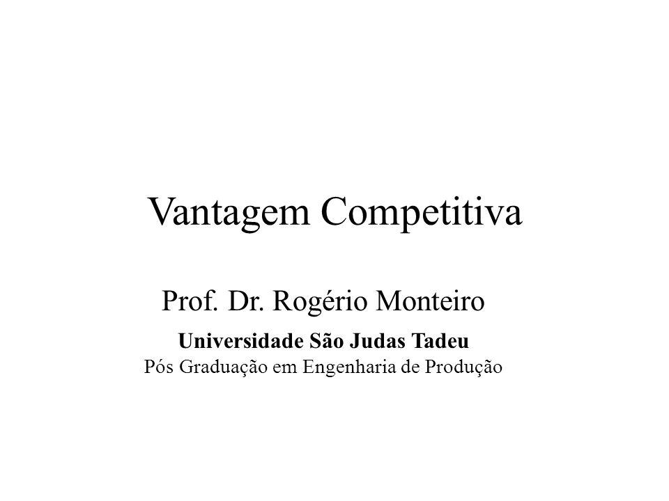 Vantagem Competitiva Prof. Dr. Rogério Monteiro Universidade São Judas Tadeu Pós Graduação em Engenharia de Produção