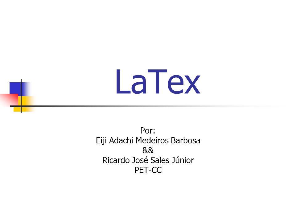 LaTex Por: Eiji Adachi Medeiros Barbosa && Ricardo José Sales Júnior PET-CC