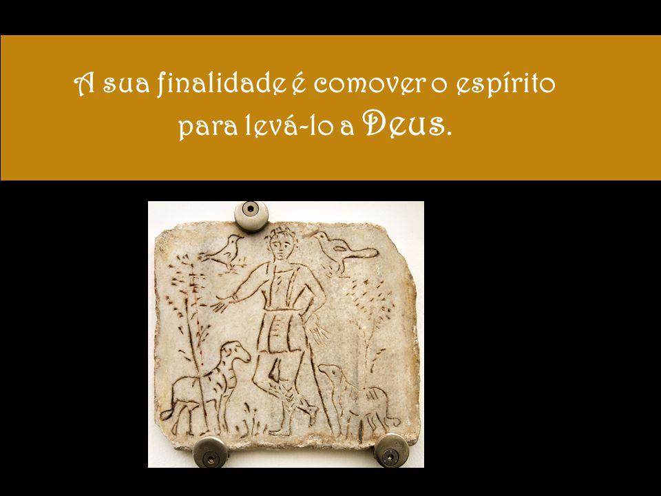Os artistas usam símbolos variados, há símbolos abstratos, como um círculo, que representaria Cristo, por associação com o disco solar.