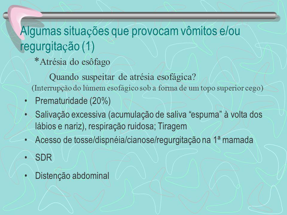 Diagnóstico diferencial - LACTENTE Refluxo gastroesofágico fisiológico Técnica alimentar inadequada Doença do refluxo gastroesofágico tendo ou não a h