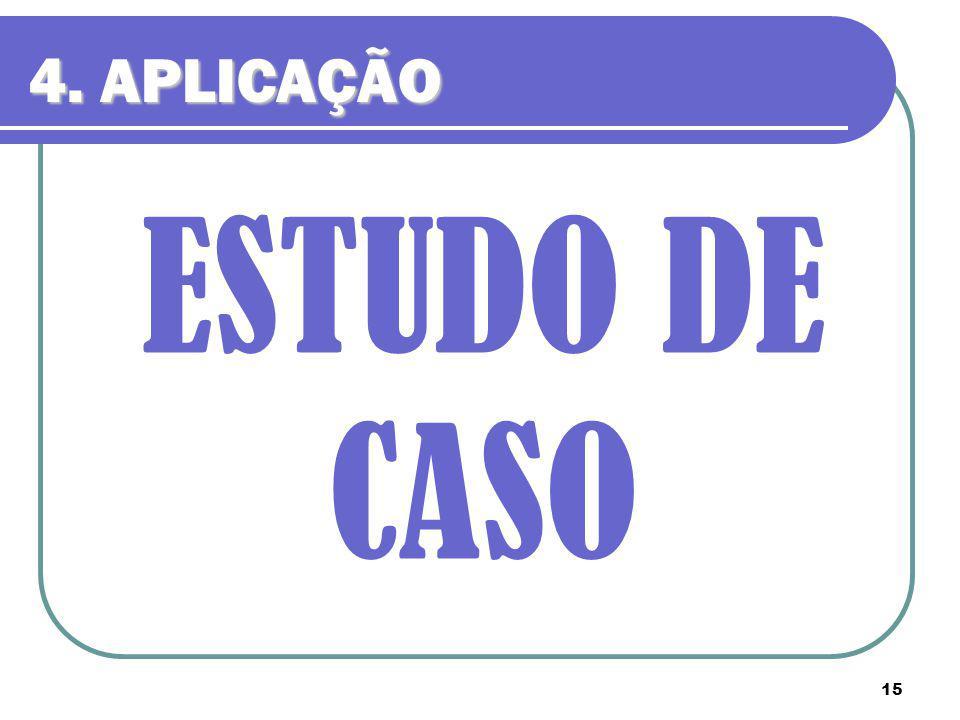 15 ESTUDO DE CASO 4. APLICAÇÃO