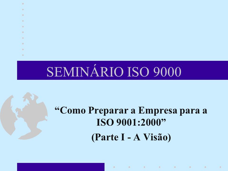 SEMINÁRIO ISO 9000 Como Preparar a Empresa para a ISO 9001:2000 (Parte I - A Visão)