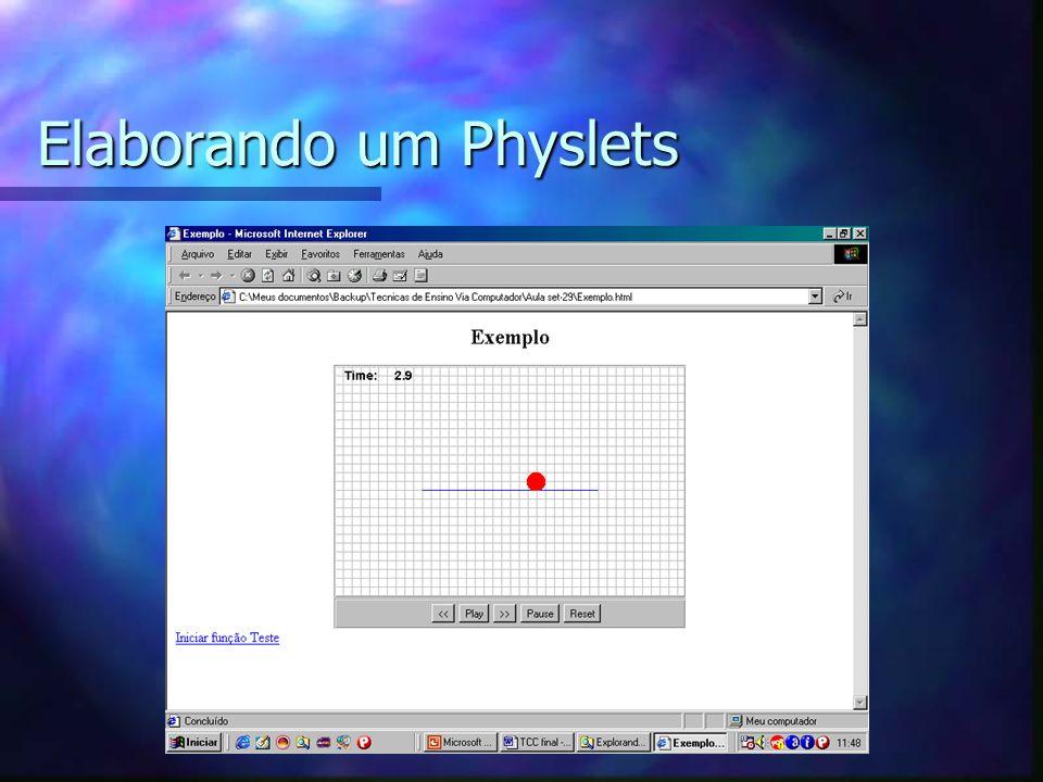 Elaborando um Physlets
