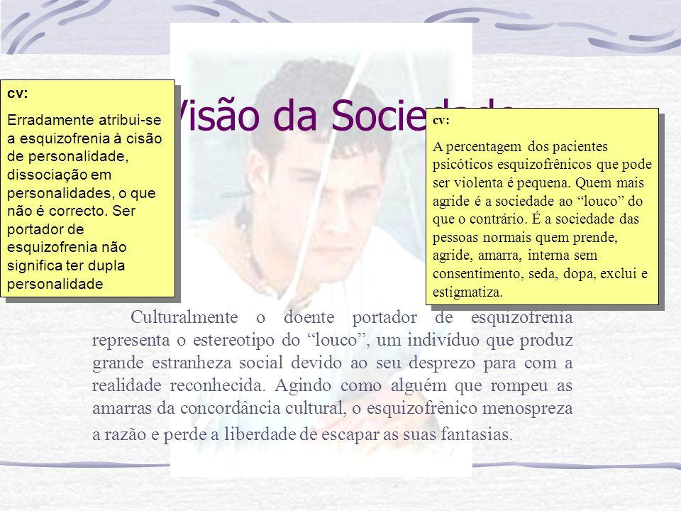 Eugem Bleuler – Esquizofrenia = Mente dividida, dissociação que às vezes o paciente percebia entre si mesmo e a pessoa que ocupa seu corpo. Definição