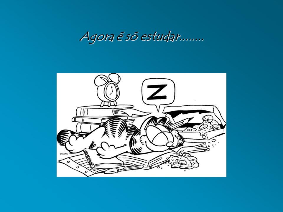 Agora é só estudar........