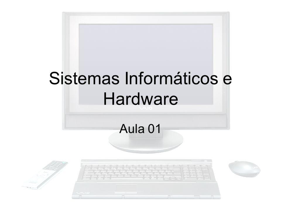 Sistemas Informáticos Definição –Pode-se dizer que um sistema informático é o conjunto de dispositivos e equipamentos mecânicos, elétricos e eletrônicos que compõem os computadores e seus periféricos