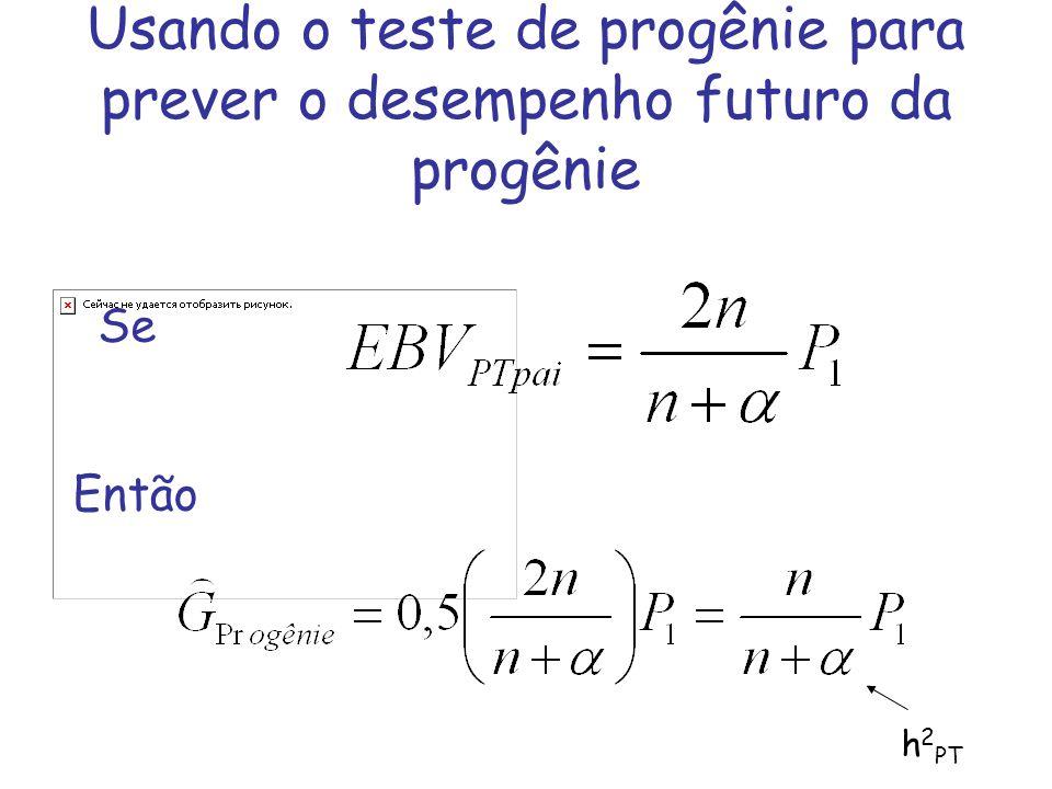 Usando o teste de progênie para prever o desempenho futuro da progênie Se Então h 2 PT