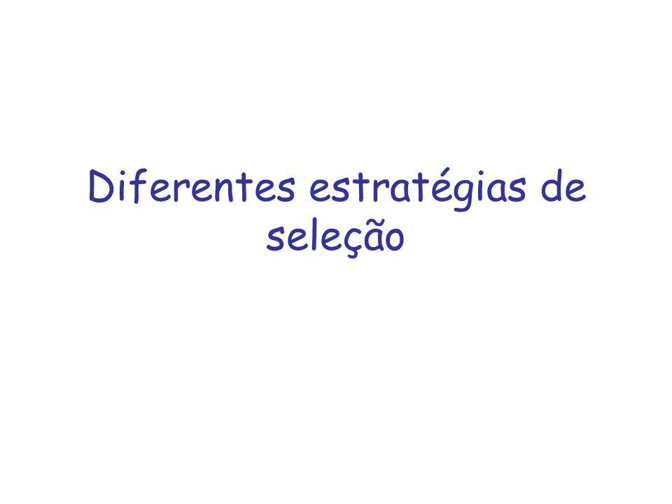 Diferentes estratégias de seleção