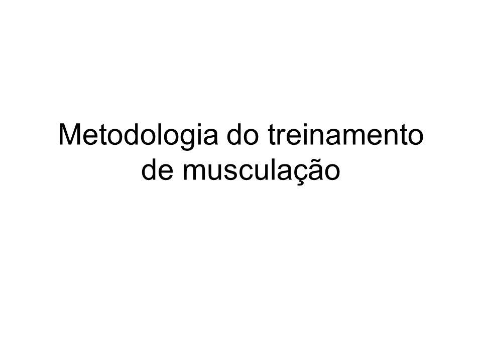 Metodologia do treinamento de musculação