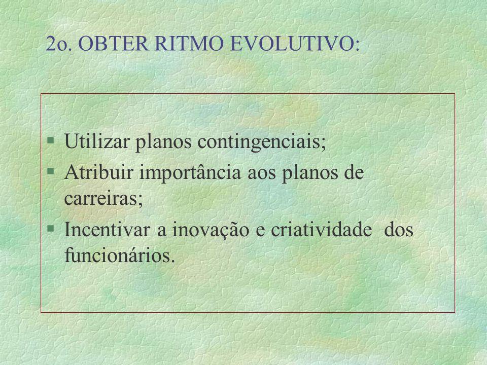 Estratégica para Administração de R.H. 1o. PLANEJAR: §Determinar o futuro desejado; §Escolher os meios para alcançá-los; §Acompanhar desenvolvimento d
