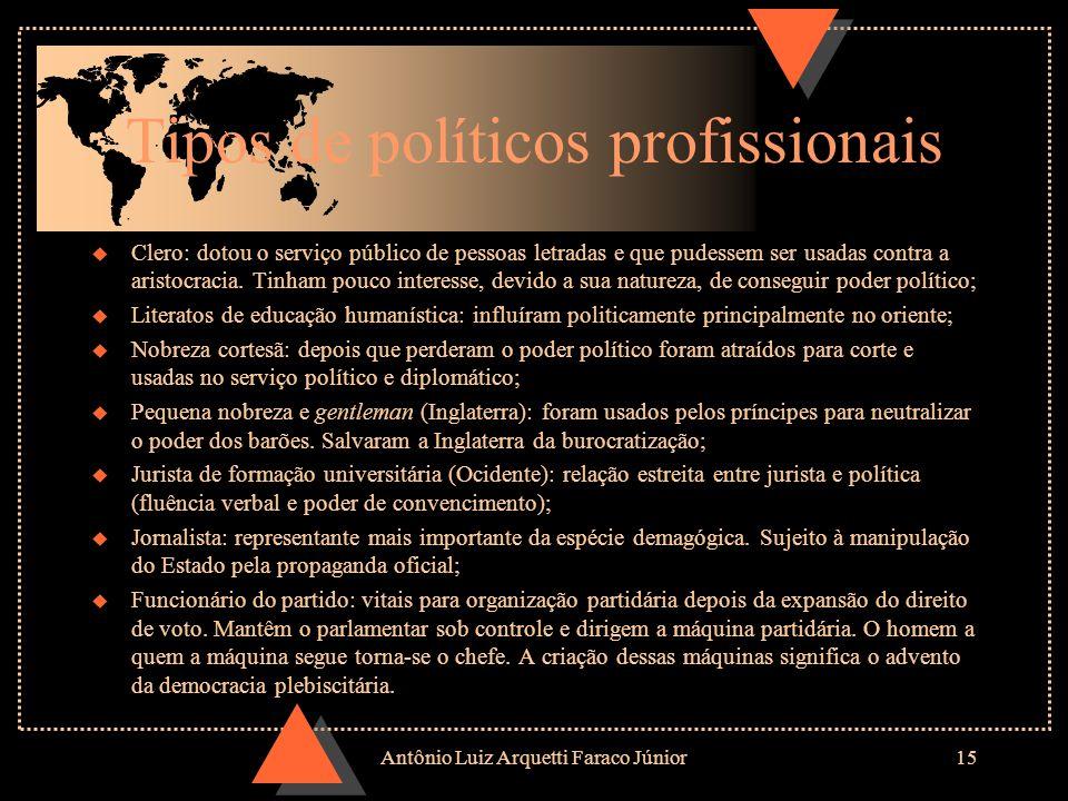 Antônio Luiz Arquetti Faraco Júnior14 Estado Moderno u Fatores que propiciaram o surgimento do Estado moderno: Processo de centralização administrativ