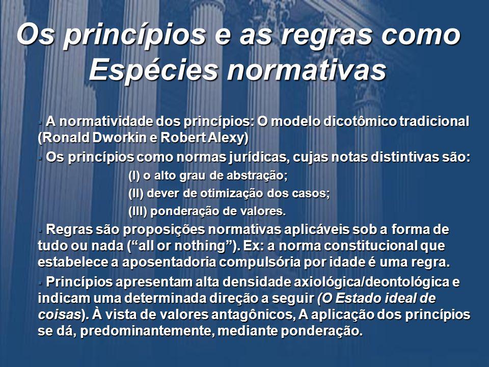 A aplicabilidade dos princípios: Alguns casos paradigmáticos A Decisão do Conselho de Estado Francês em Morsang-sur- Orge (O caso lancer de nain´) A Decisão do Conselho de Estado Francês em Morsang-sur- Orge (O caso lancer de nain´) No Brasil, o princípio da dignidade humana tem sido fundamento de decisões importantes, como a proferida pelo Superior Tribunal de Justiça ao autorizar o levantamento do FGTS por mãe de pessoa portadora do vírus da AIDS, para ajudá-la no tratamento da doença, independentemente do fato de esta hipótese estar ou não tipificada na lei como causa para o saque do fundo No Brasil, o princípio da dignidade humana tem sido fundamento de decisões importantes, como a proferida pelo Superior Tribunal de Justiça ao autorizar o levantamento do FGTS por mãe de pessoa portadora do vírus da AIDS, para ajudá-la no tratamento da doença, independentemente do fato de esta hipótese estar ou não tipificada na lei como causa para o saque do fundo FGTS.