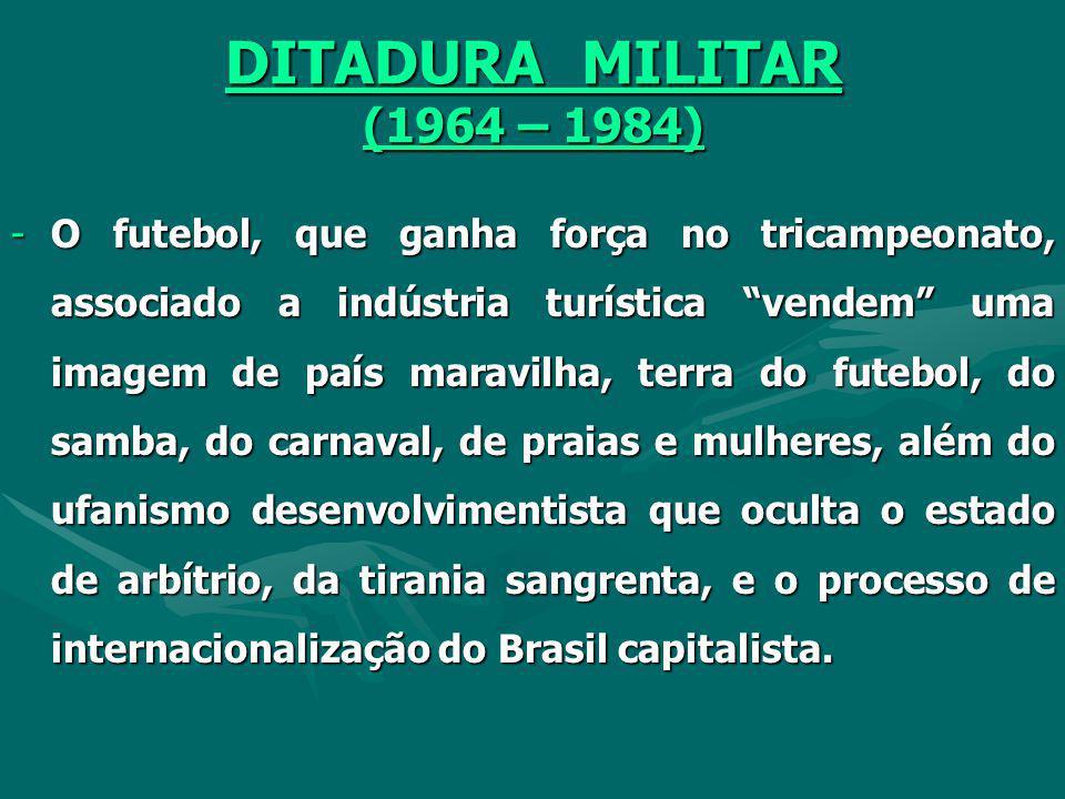 ESTADO NOVO (1937-1945) - A revolução de 1930, a ascensão de Getúlio Vargas e da burguesia industrial ao poder, exaltam a questão nacional da ação int