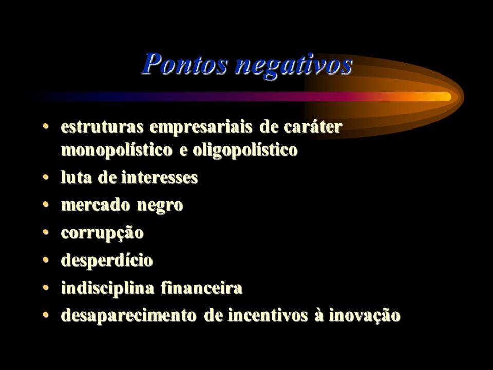 Pontos negativos estruturas empresariais de caráter monopolístico e oligopolísticoestruturas empresariais de caráter monopolístico e oligopolístico lu