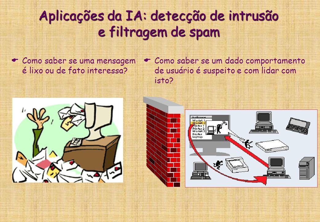 Aplicações da IA: busca de informação na web Como localizar a informação relevante?
