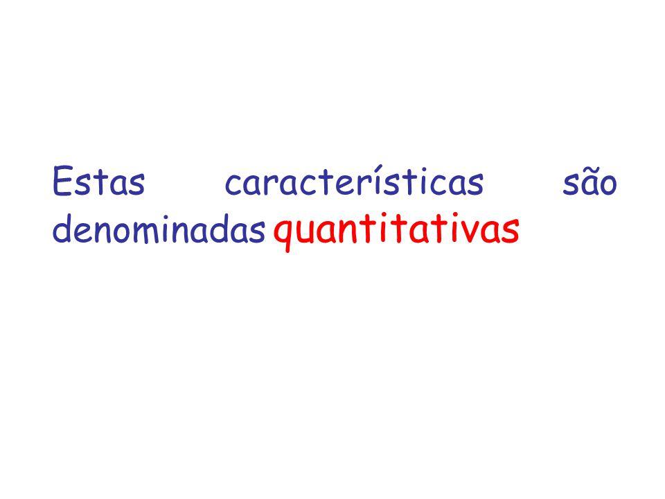 Estas características são denominadas quantitativas