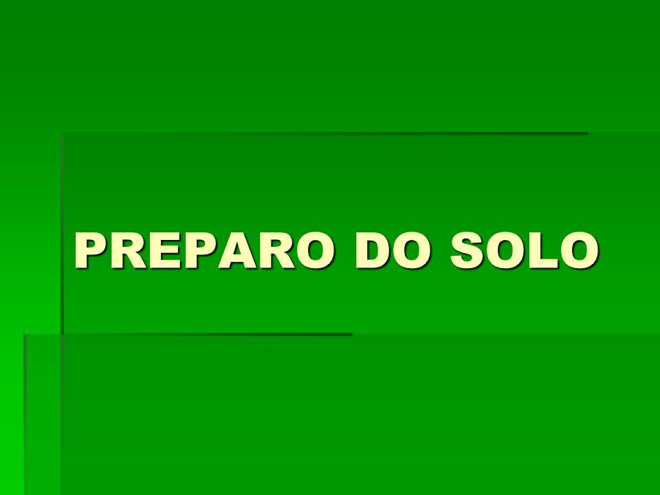 PREPARO DO SOLO