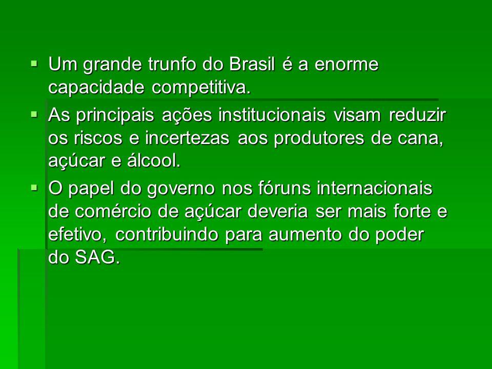 Um grande trunfo do Brasil é a enorme capacidade competitiva.
