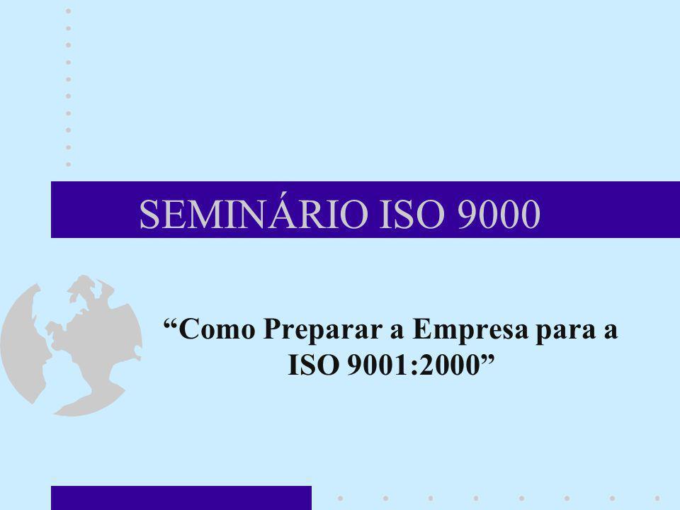 SEMINÁRIO ISO 9000 Como Preparar a Empresa para a ISO 9001:2000