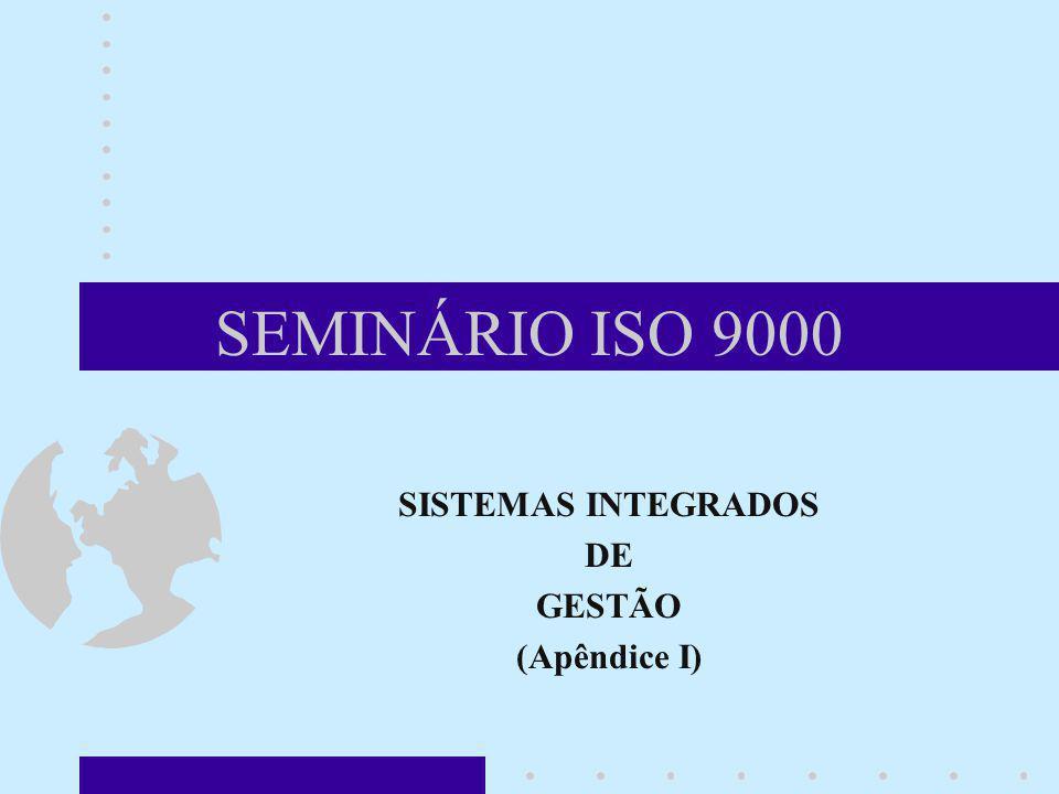 SEMINÁRIO ISO 9000 SISTEMAS INTEGRADOS DE GESTÃO (Apêndice I)