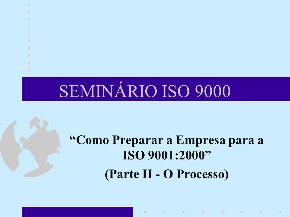 SEMINÁRIO ISO 9000 Como Preparar a Empresa para a ISO 9001:2000 (Parte II - O Processo)