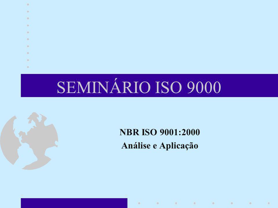 SEMINÁRIO ISO 9000 NBR ISO 9001:2000 Análise e Aplicação