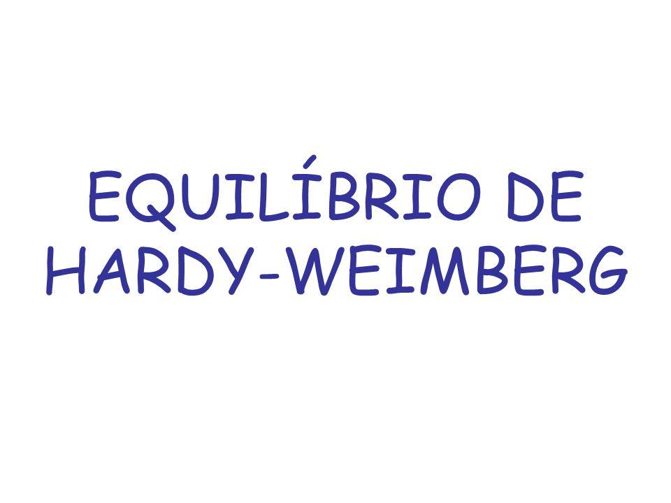 EQUILÍBRIO DE HARDY-WEIMBERG