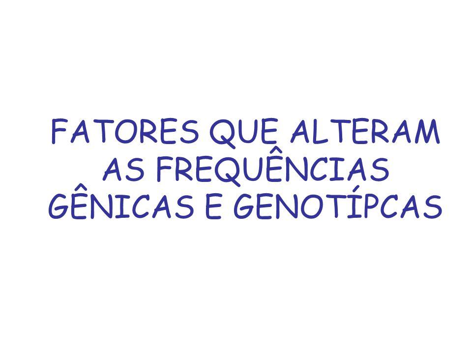 FATORES QUE ALTERAM AS FREQUÊNCIAS GÊNICAS E GENOTÍPCAS