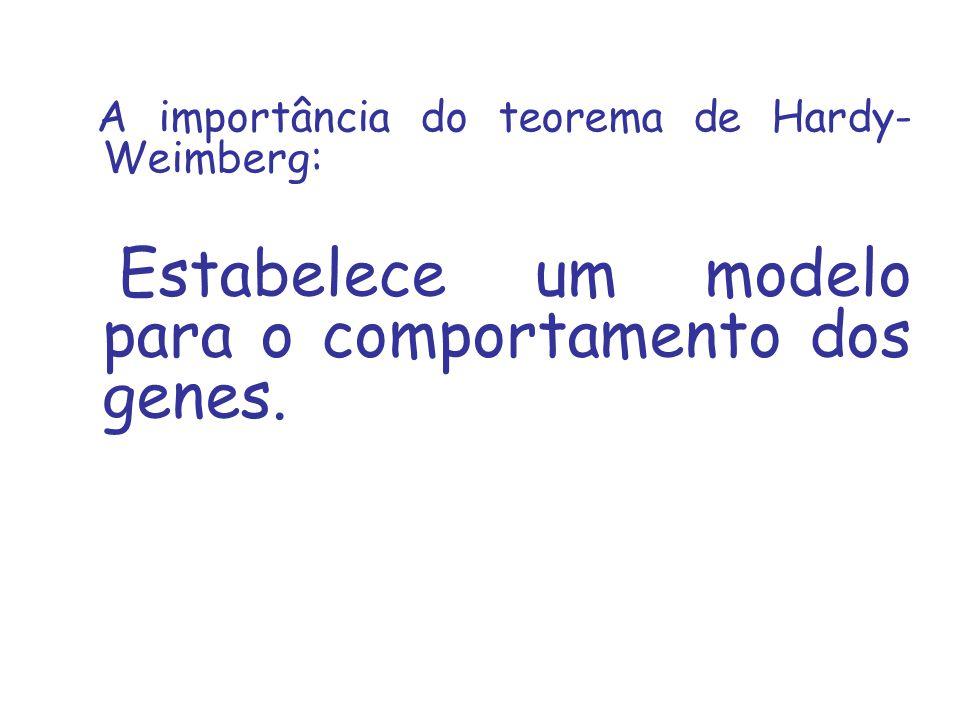 A importância do teorema de Hardy- Weimberg: Estabelece um modelo para o comportamento dos genes.