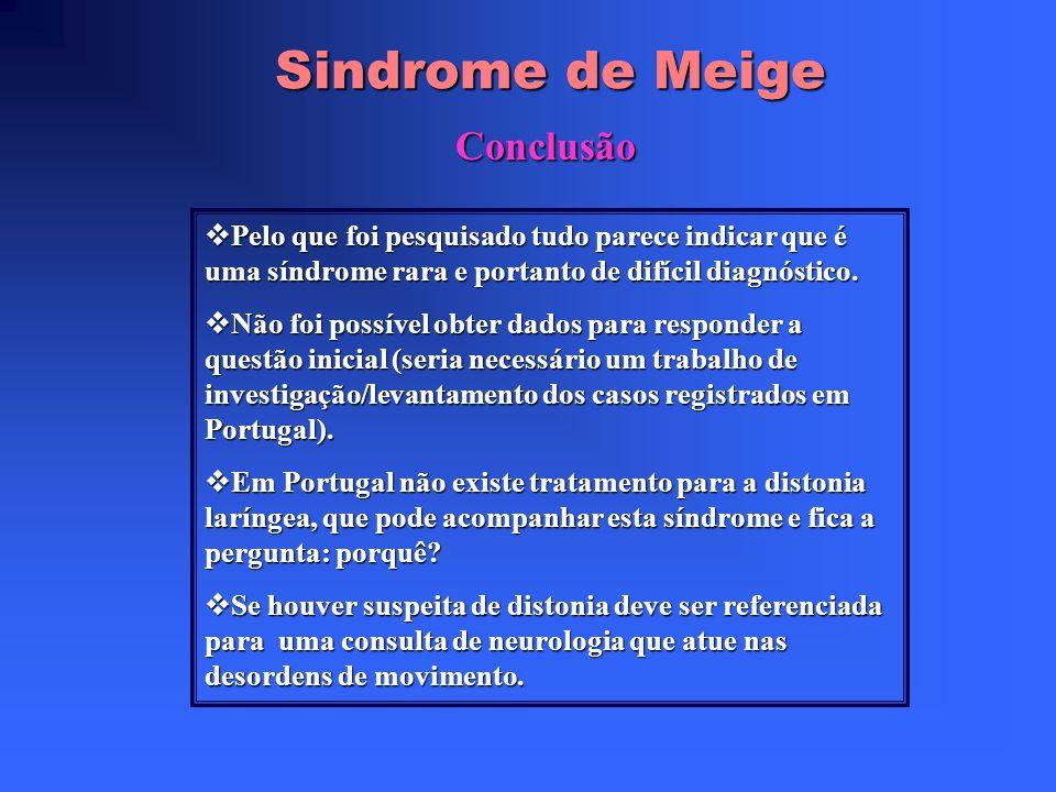 Sindrome de Meige Complicações da toxina botulínica (2) Disartria Disartria Formação de anticorpos Formação de anticorpos Protusão da língua Protusão