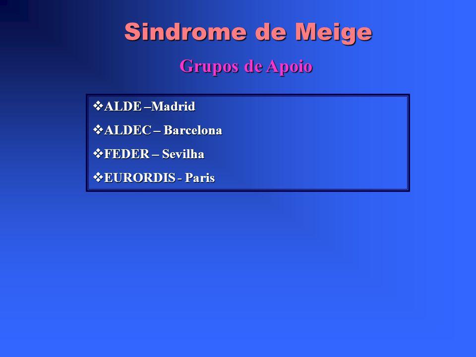 Sindrome de Meige Conclusão Pelo que foi pesquisado tudo parece indicar que é uma síndrome rara e portanto de difícil diagnóstico. Pelo que foi pesqui