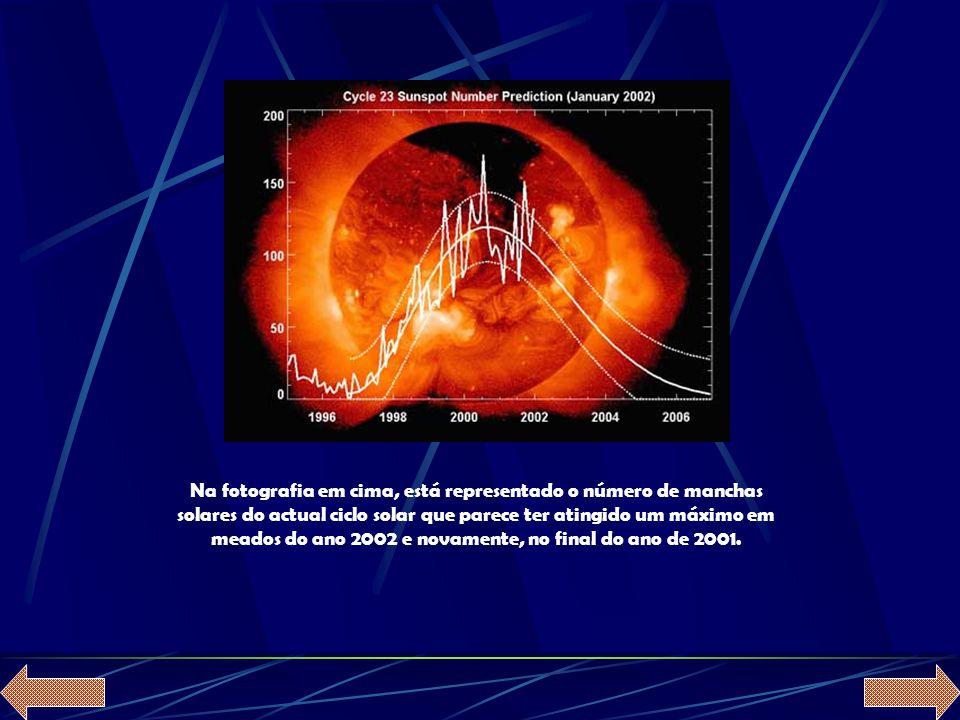 As manchas solares são manchas escuras que aparecem na superfície do Sol, devidas, segundo se crê, a depressões da fotosfera solar e foram descobertas por Galileu Galilei e David Fabricius (1564-1617) em 1610.
