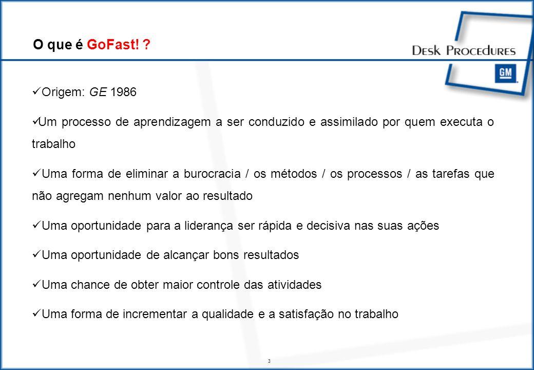 4 GoFast.Workshop é o principal mecanismo para a contrução do Senso de Urgência GoFast.