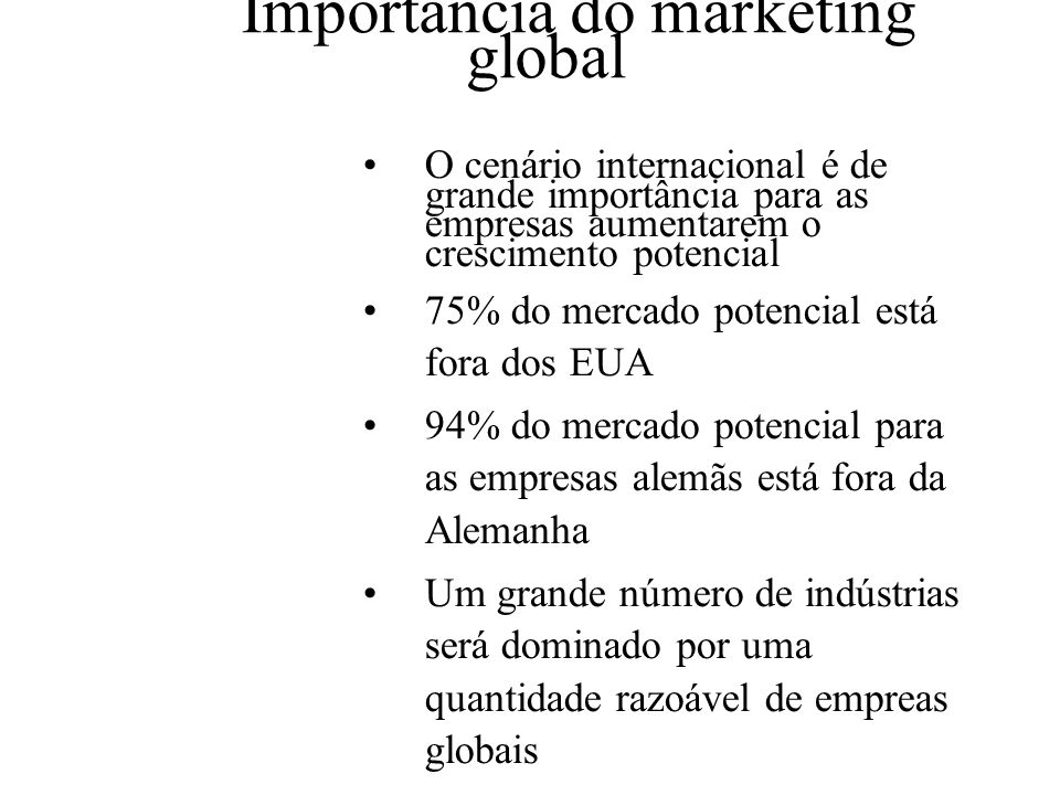 Exemplos de marketing global