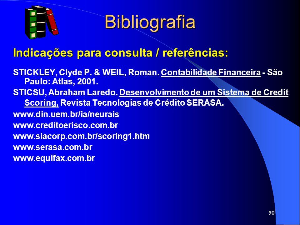 50 Bibliografia Indicações para consulta / referências: STICKLEY, Clyde P.