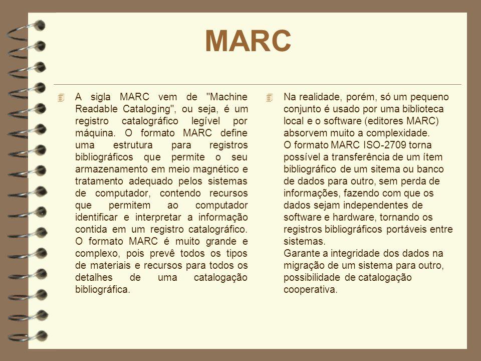 MARC 4 A sigla MARC vem de