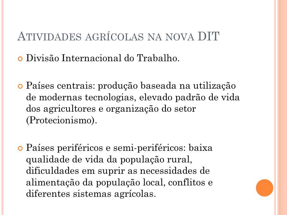 A TIVIDADES AGRÍCOLAS NA NOVA DIT Divisão Internacional do Trabalho.