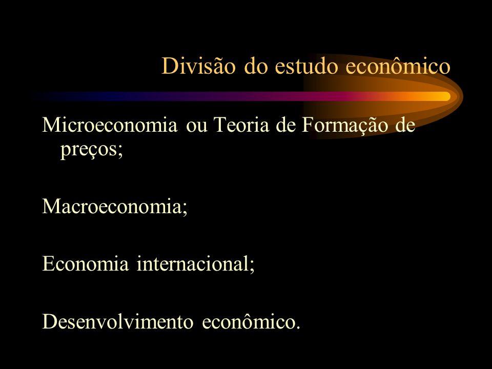 Inter-relação da Economia com outras áreas do conhecimento Economia, Física e Biologia Economia, Matemática e Estatística C = 2 r Economia e Política