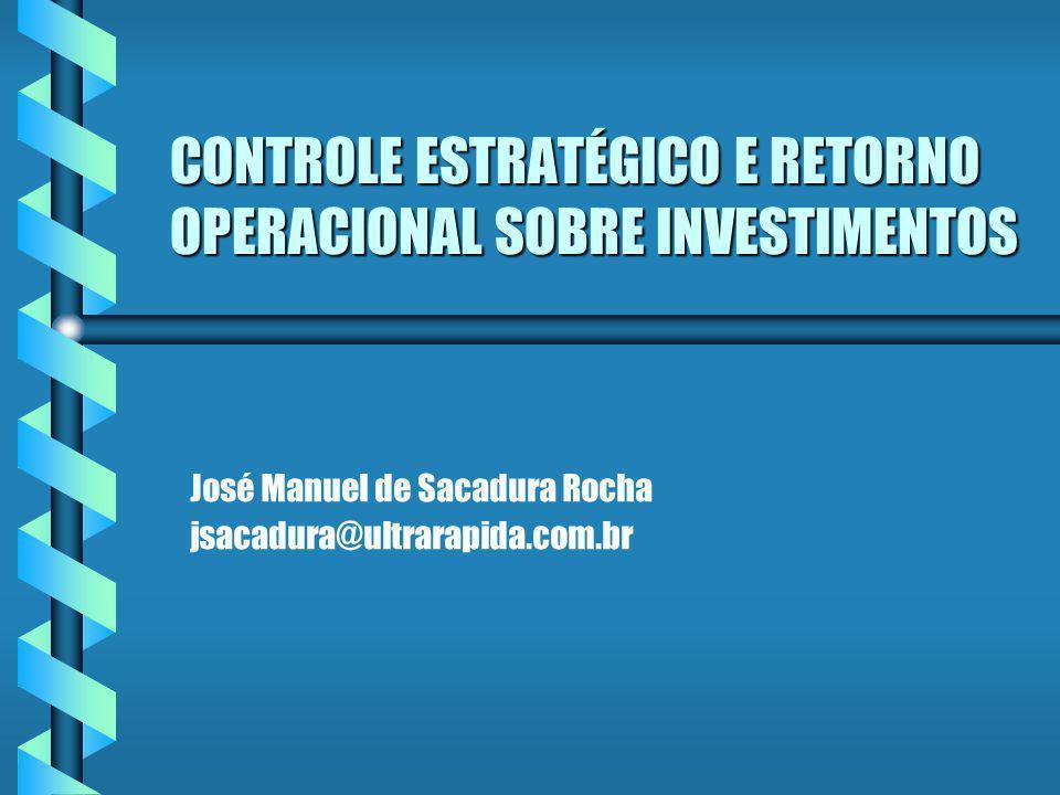 CONTROLE ESTRATÉGICO E RETORNO OPERACIONAL SOBRE INVESTIMENTOS José Manuel de Sacadura Rocha jsacadura@ultrarapida.com.br