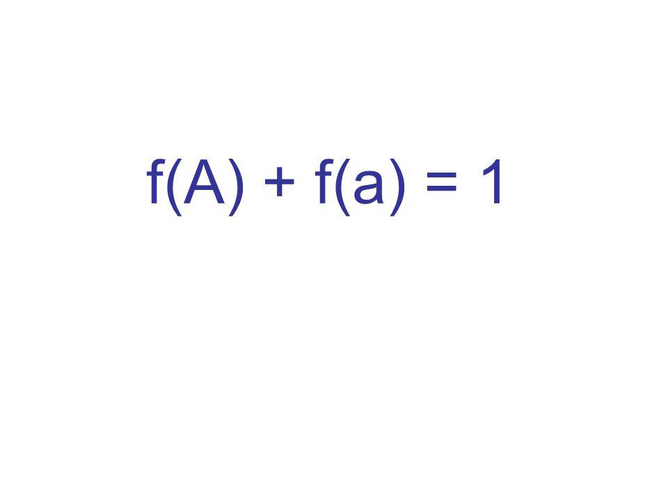 f(A) + f(a) = 1