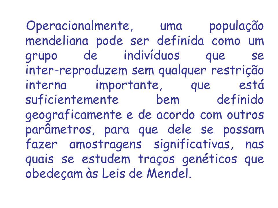 A Genética Populacional é o ramo da Genética que estuda a aplicação dos conceitos e das leis da Genética em grupos inter reprodutores ou populações.