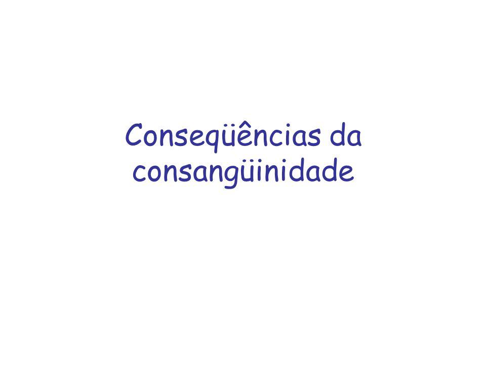 Conseqüências da consangüinidade