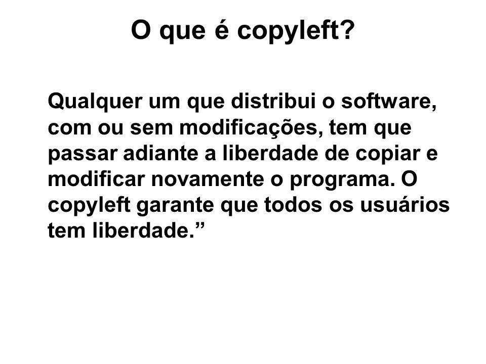 O que é copyleft.
