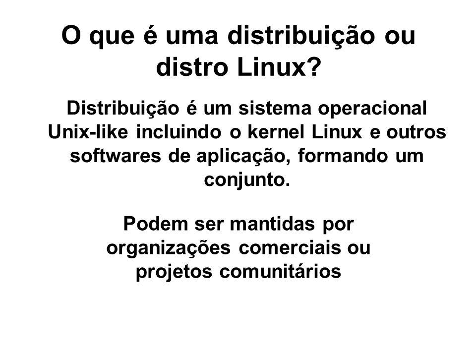 O que é uma distribuição ou distro Linux.