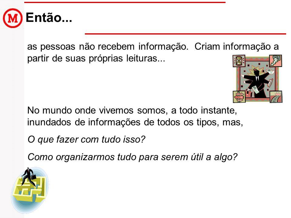 Então... as pessoas não recebem informação. Criam informação a partir de suas próprias leituras...