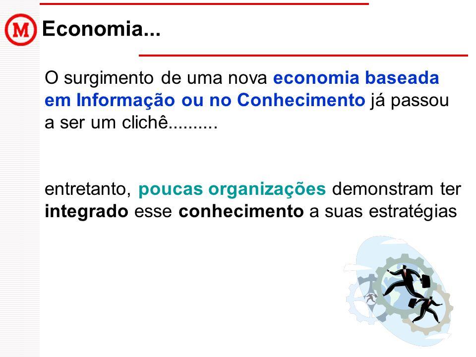 O surgimento de uma nova economia baseada em Informação ou no Conhecimento já passou a ser um clichê..........