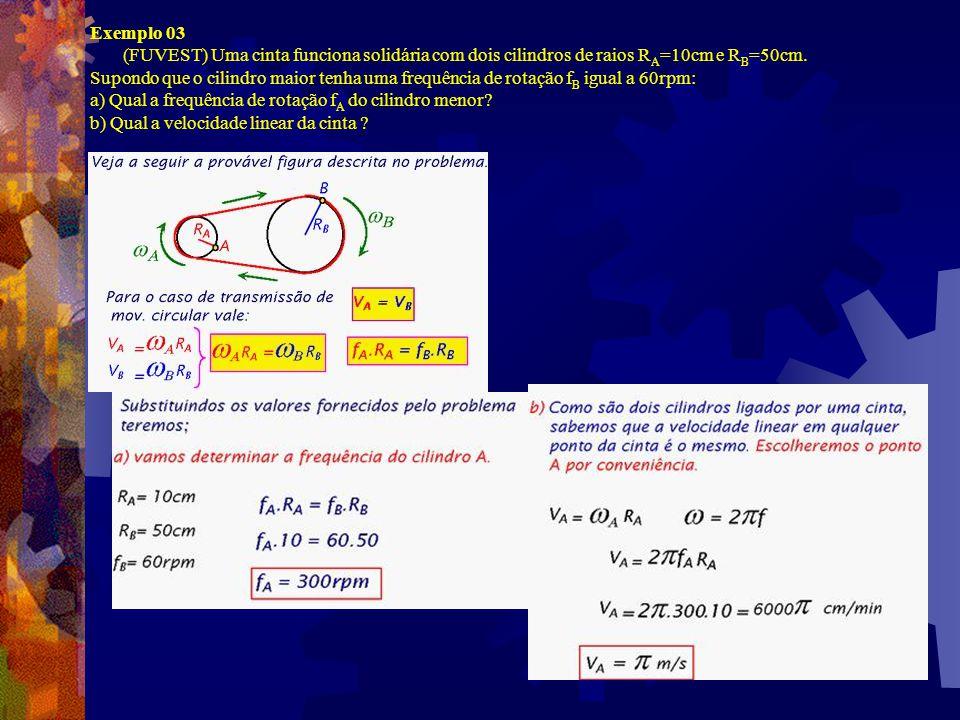 Transmissão Do Movimento Circular. Podemos transmitir o movimento circular de duas formas, como pode ser visto na figura abaixo.